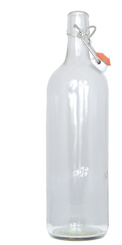 <h2>1 Liter Kurzhalsflasche mit Bügelverschluss</h2> <p>Universell einsetzbar undexklusiv in der Form,</p> <p>1.0 l weisse Bügelverschlussflasche für vielfältigen Einsatz. Gut geeignet als Sirupflasche, Saftflasche, Schnaps auch für Most einsetzbar.<br /> <br /> Abmessungen:<br /> Höhe in mm: 302.0<br /> Durchmesser in mm: 70.7<br /> Gewicht in g: 580<br /> Füllvolumen in cl 100<br /> Farbe: Klarglas<br /> Lieferung INKLUSIVE Bügelverschluss</p> <p>Lieferzeit: Vorrätig</p>