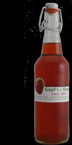 <p>Von diesem Sirup hab ich in diesem Jahr tatsächlich einige Liter hergestellt, für meinen Mitesser, der ein riesengrosser Fan von selbstgemachter Erdbeerbrause ist. Er bunkert einen Grossteil der Flaschen nun im Büro und hat so immer ein leckeres Erfrischungsgetränk parat. Mir selbst ist dieser Sirup zu süss, das hat aber nix zu sagen, denn ich mag eh nur Zitrussirup, zumindest im Getränk ;o) Neben der Verwendung als Brausesirup, kann man diesen Sirup aber auch prima als Fruchtsauce zu Eis oder Kuchen servieren.</p>