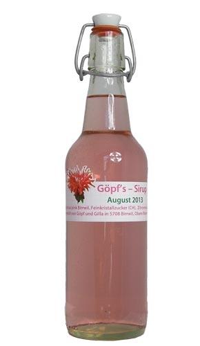Goldmelissen-Sirup (pink) von sirup.li